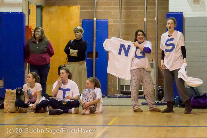 5681 McM Girls Varsity Basketball Mustangs Spirit 2013