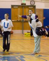 5874 McM Girls Varsity Basketball Mustangs Spirit 2013