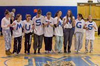 5932 McM Girls Varsity Basketball Mustangs Spirit 2013