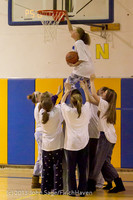 6069 McM Girls Varsity Basketball Mustangs Spirit 2013