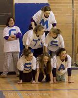 6183 McM Girls Varsity Basketball Mustangs Spirit 2013