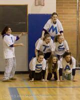 6194 McM Girls Varsity Basketball Mustangs Spirit 2013