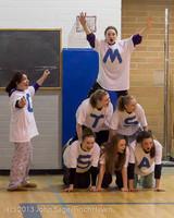 6202 McM Girls Varsity Basketball Mustangs Spirit 2013