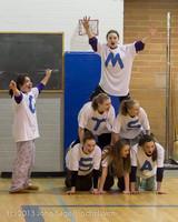 6205 McM Girls Varsity Basketball Mustangs Spirit 2013